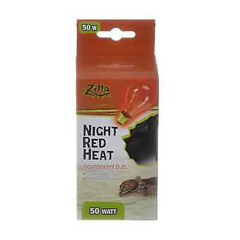 Zilla Incandescent Night Red Heat Bulb for Reptiles - 50 Watt