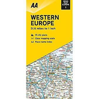 Road Map Western Europe (Road Map Europe)