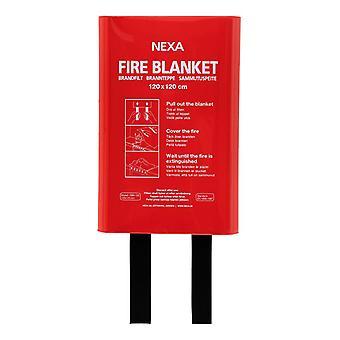 Nexa Manta Cortafuemos 120x120cm Rojo - Caja Dura FBH-120