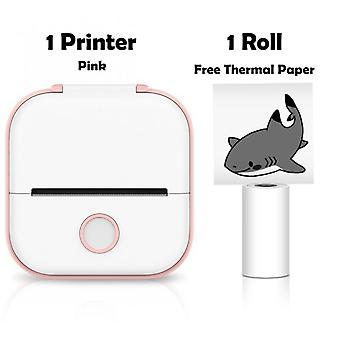 Portable Mini Thermal Printer 203dpi 53mm Printing Stickers Wireless Inkless Mini Pocket Label Notes Printer Papers For Home