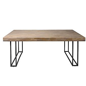 Tomasso's Fano Dining Table - Modern - Natural - Metal - 180 cm x 100 cm x 75 cm