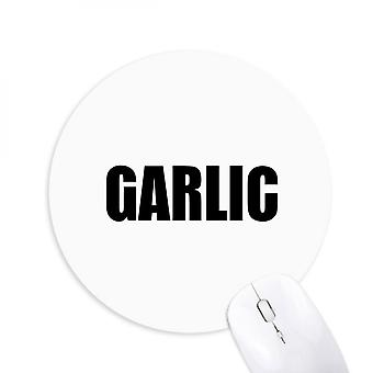 Garlic Vegetable Name Foods Round Non-slip Rubber Mousepad Game Office Mouse Pad