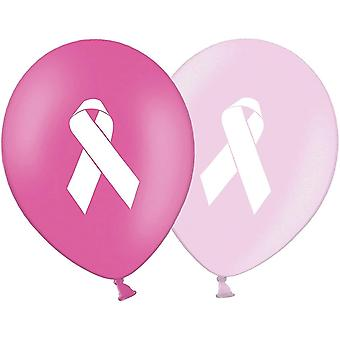Balloons party decor ribbon - cancer awareness 12' printed latex pink assorted balloons pack of 20