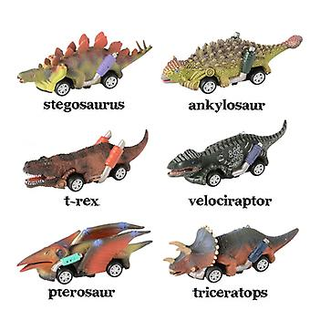 13cm / 6 Pieces Of Riser Dinosaur Car Game Dinosaur Toys