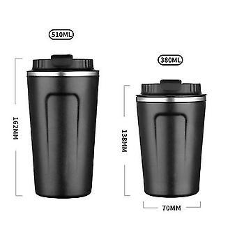 304 Tasse à café en acier inoxydable, tasse à café isolée sous vide avec couvercle