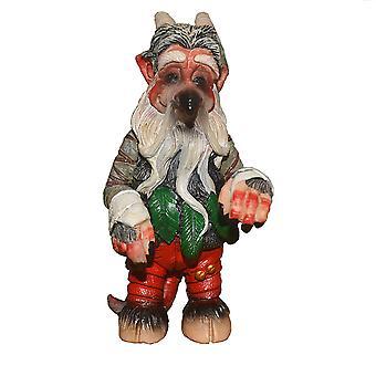 Swotgdoby Goblin Sculpture Ornements, Décorations d'artisanat en résine pour la cour et le jardin