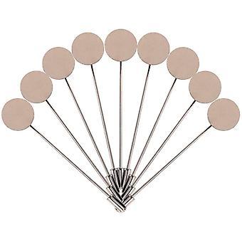 Lapel Pin Set Round Tray Blank Costume Jewelry Accessories 50 Pcs