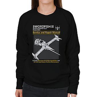 Cowboy Bebop Swordfish Service And Repair Manual Women's Sweatshirt