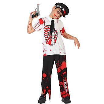 Børns kostumer børn Zombie politiet dreng