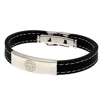 Leicester City Stitched Silicone Bracelet BK