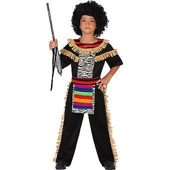 Infantiles Disfraces carnaval niños traje Zulú para los niños