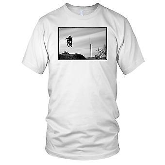 Mountain Biker Racer B&W Mens T-skjorte