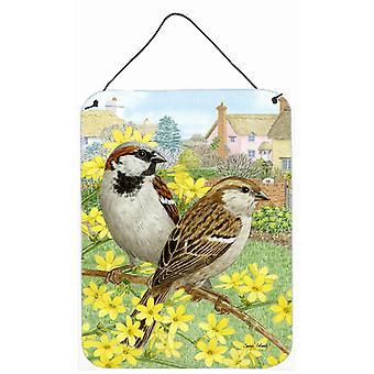 Carolines Treasures  ASA2091DS1216 House Sparrows Wall or Door Hanging Prints