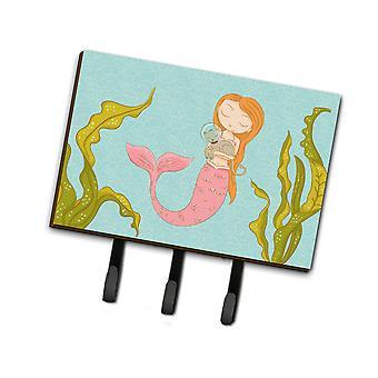 Carolines Treasures  BB8540TH68 Mermaid and Cat Underwater Leash or Key Holder