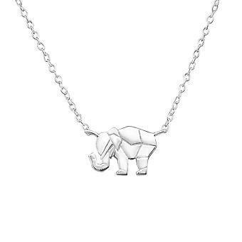 Elephant - 925 Sterling Silver Plain Necklaces - W32259x