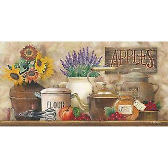 Antique Kitchen Poster Print by Ed Wargo (18 x 9)