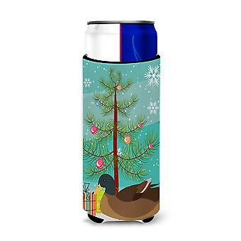 Khaki Campbell Duck Christmas Michelob Ultra Hugger for slim cans