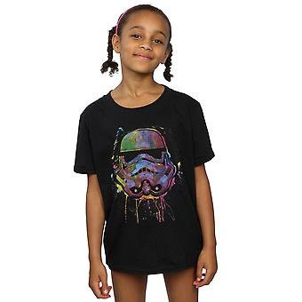 Star Wars Girls Stormtrooper Paint Splats T-Shirt