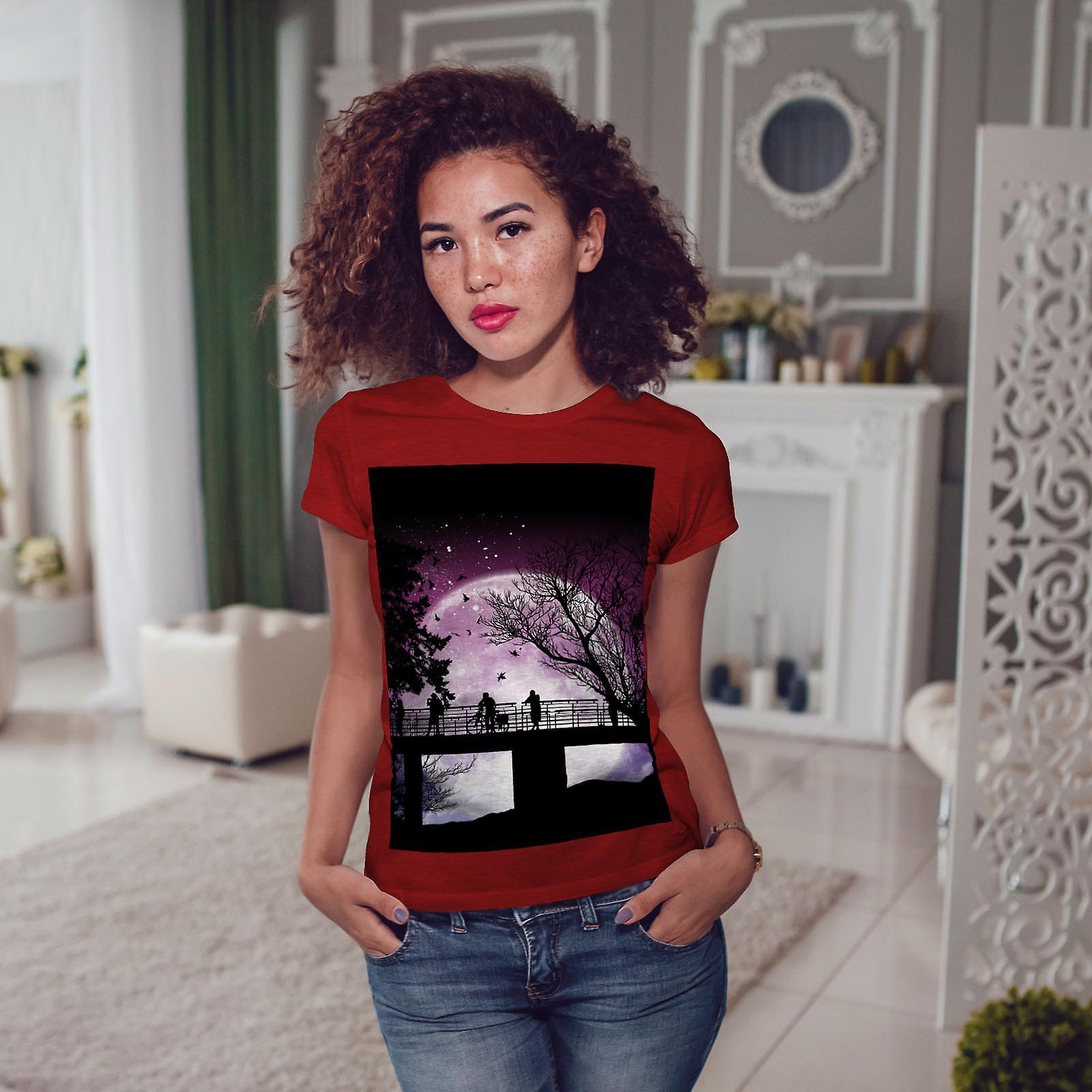 Silhouette Nature RedT-chemise femme la lune   Wellcoda