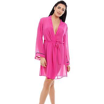 Camisa gasa Womens Pink de Camille y conjunto de abrigo