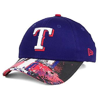 Texas Rangers MLB New Era 9Twenty Splatter Snapback Hat