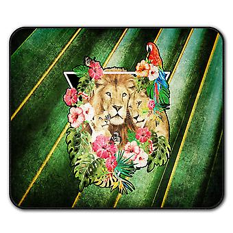Lion Love Family  Non-Slip Mouse Mat Pad 24cm x 20cm | Wellcoda