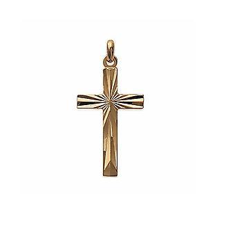 Pingente de mulher - homem Cruz em ouro amarelo chapeado
