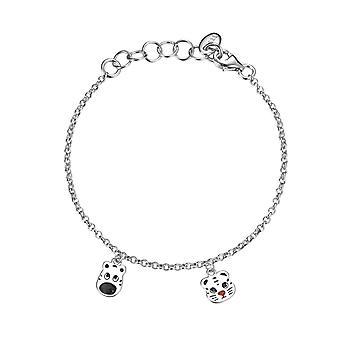 Esprit Kinder Armkette Armband Silber Tiger Zebra ESBR91673A135