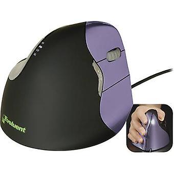 Souris evoluent Vertical Mouse 4 VM4S USB optique ergonomique noir, violet