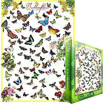 Papillons 1000 Piece Jigsaw Puzzle