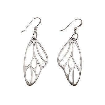 Gemshine Damen Ohrringe Schmetterling Flügel WINGS 925 Silber 4,5 cm