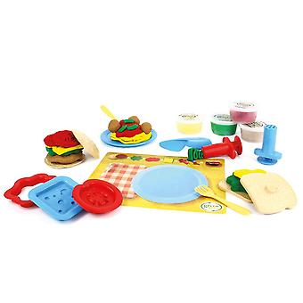 Green Toys 19 Piece Meal Maker Eco Friendly Play Dough Set, Doh Moulding