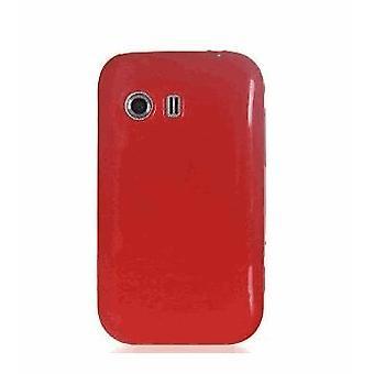 Quality One Wireless Anti Skid Slim TPU Gel Case for Samsung Galaxy Y S5360 - Red