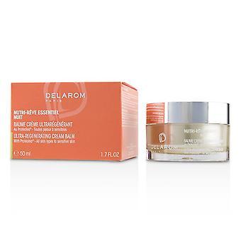 Delarom Nutri-reve Essentiel Nuit Ultra-regenerating Cream Balm - For All Skin Types To Sensitive Skin - 50ml/1.7oz