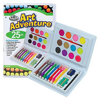 Royal & Langnickel Art Adventure Set of Paint & Markers (25 Piece)