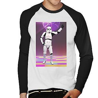 Alkuperäinen Stormtrooper lauantai-iltana kuume miesten Baseball pitkähihainen t-paita