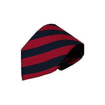 Rode zijden stropdas Eboli 01