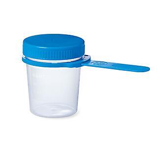 Vitility VIT-70110540 Urinebeker 100 ml Transparant/Blauw