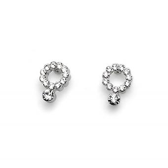 Oliver Weber Post Earring Favour Rhodium Crystal