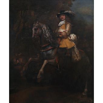 Portrett av Frederick, REMBRANDT Harmenszoon van Rijn, 50x40cm