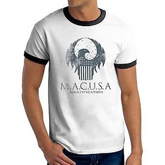Phantastische Tierwesen T-Shirt - Macusa Logo (Unisex Ringer)