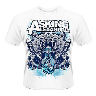 Pytając Koszulka Skull Alexandria - niedźwiedź
