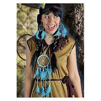 Accessori dreamcatcher Set con collana e orecchini blu