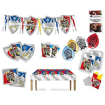Knight party box 63-teilig birthday decoration Knight party party package