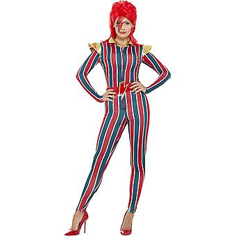 Miss Space Superstar Costume, Multi-Coloured, with Jumpsuit & Belt