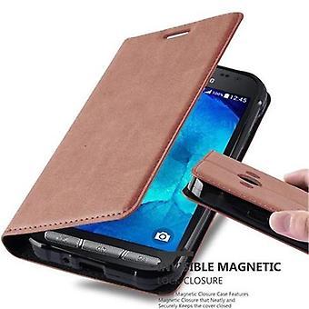Futerał Cadorabo do obudowy Samsung Galaxy XCover 3- etui na telefon z magnetycznym zapięciem, funkcją stojaka i komorą na kartę - Obudowa ochronna Case Book Folding Style