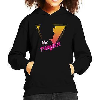 Alex Turner 80s stil Kid's Hooded Sweatshirt