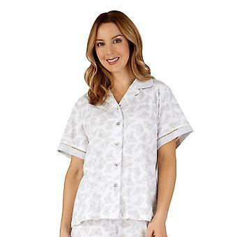 Coton Jersey gris papillon pyjama Pyjama Set Slenderella PJ3129 de la femme