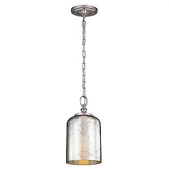 Hounslow Mini pingente aço - escovado Elstead iluminação