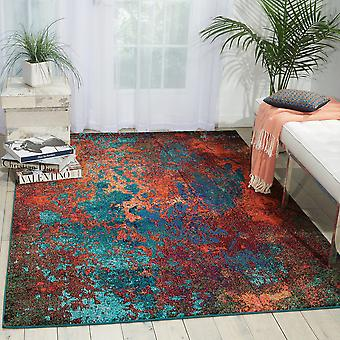 CES08 celeste rectángulo Atlántico alfombras alfombras Funky